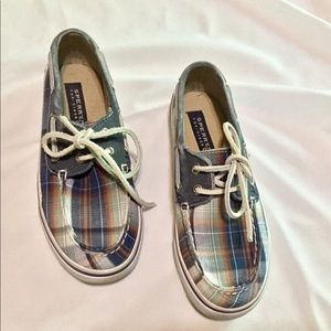 PLAID KIDS SPERRY TOP-SIDER BOAT SHOES SIZE 1 M